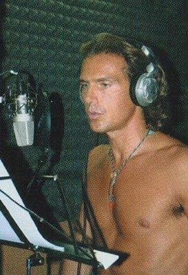 Antonio Zequila in studio di registrazione